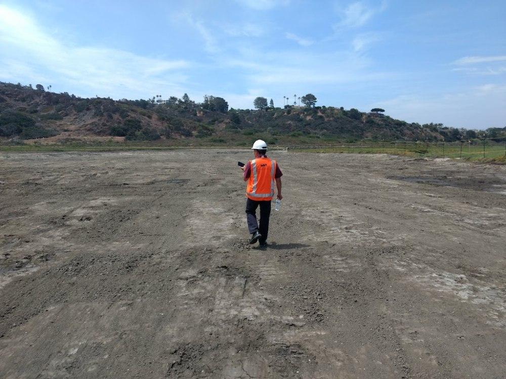 Crews Survey New Mudflats