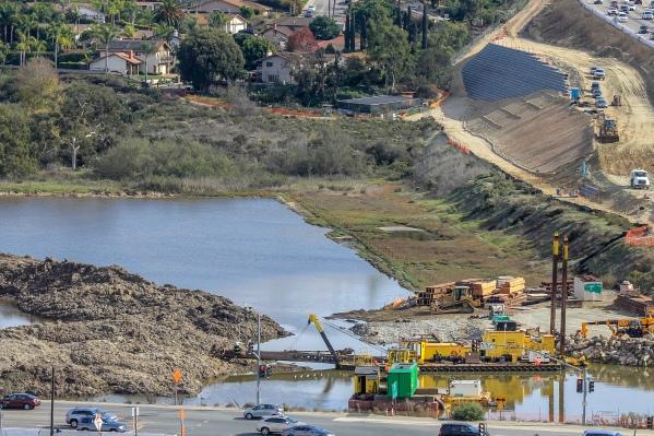 Dissasembled dredge east basin